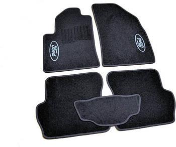 Коврики в салон ворс Ford Fiesta (2002-2008) /Чёрные, кт. 5шт