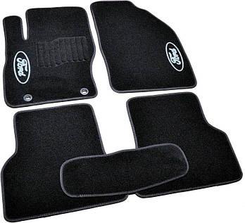 Коврики в салон ворс Ford Focus II (2004-2011) /Чёрные, кт. 5шт
