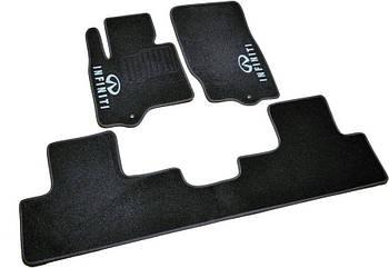 Коврики в салон ворс Infiniti FX35/45/QX70 (2008-) /Чёрные, кт 3шт