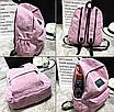 Рюкзак женский вельветовый LUYISABER школьный Синий, фото 3