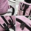 Рюкзак женский вельветовый LUYISABER школьный Синий, фото 4