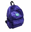 Рюкзак женский вельветовый LUYISABER школьный Синий, фото 2