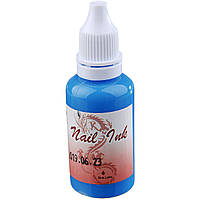 Краска для Аэрографа Nail Ink (Blue Lake)