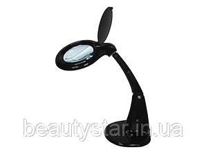 Лампа-лупа настольная мод. 8093А Led, диоптр. 3 +12, черный корпус