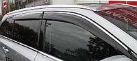 Дефлекторы окон с хром молдингом Nissan Qashqai I 2006-2014 Cobra Tuning