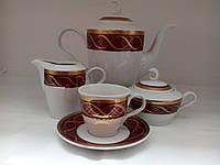 Сервиз фарфоровый  кофейный Золотой узор  325 Чехия