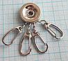 Заготовка для ключницы круглая на 4 карабина, арт. 00-401 серебро