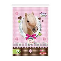 Блокнот Herlitz А6 46 листов клетка Pretty Pets Horse (10089035H)