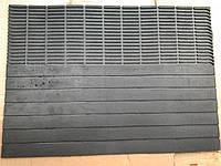 Коврик резиновый черный полоса 69 х 50 , фото 1