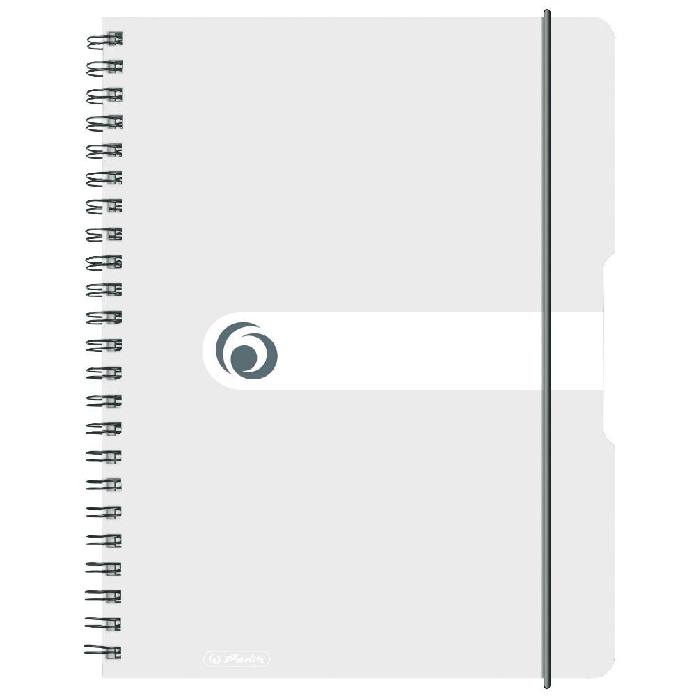 Блокнот Herlitz А4 80 листов Easy Orga To Go клетка бесцветный пластиковая обложка (11293107)