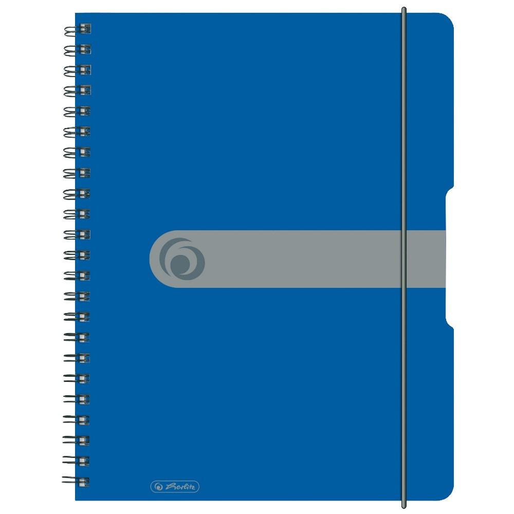 Блокнот Herlitz А4 80 листов Easy Orga To Go клетка синий пластиковая обложка (11293065)
