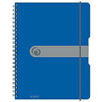 Блокнот Herlitz А4 80 листов Easy Orga To Go клетка синий пластиковая обложка (11293065), фото 1