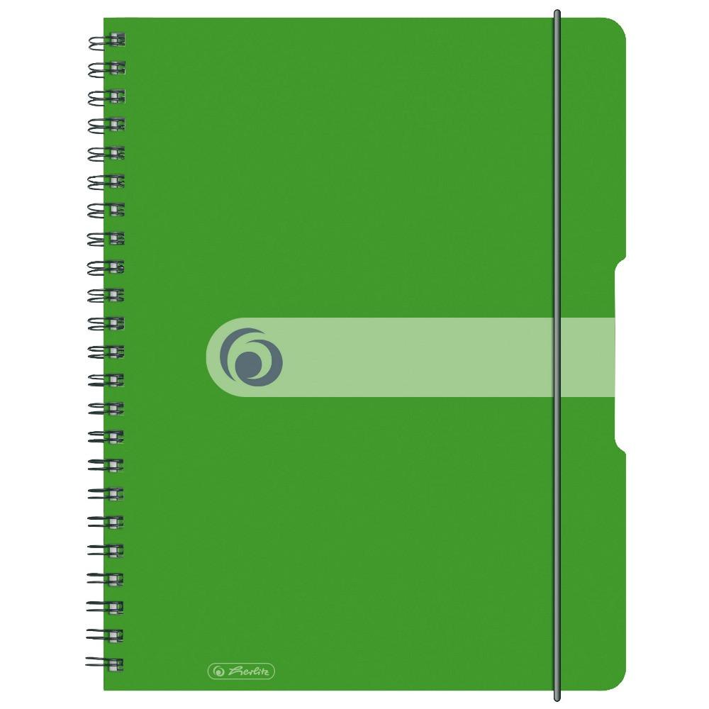 Блокнот Herlitz А4 80 листов Easy Orga To Go клетка салатовый пластиковая обложка (11293099)