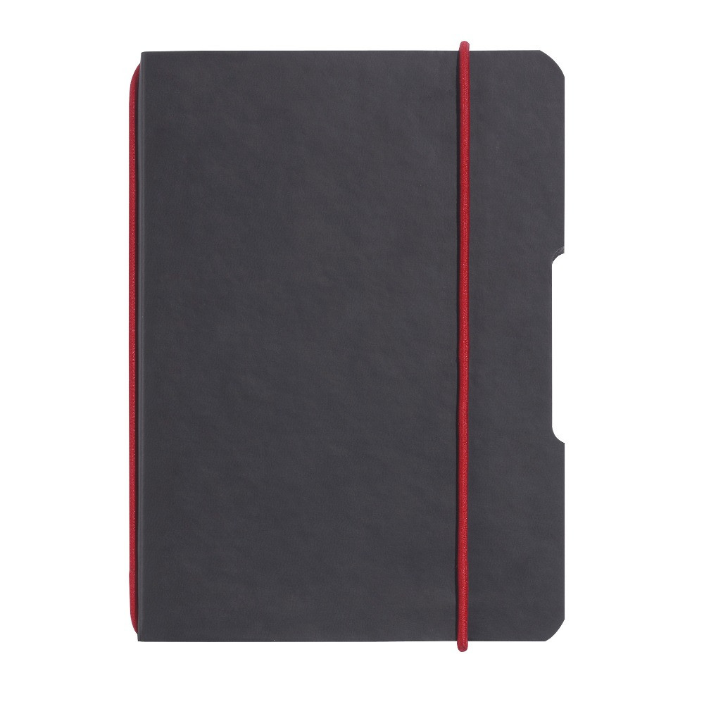 Блокнот Herlitz My.Book Flex Leather А4 40 листов клетка обложка имитация кожи черный (11361813)