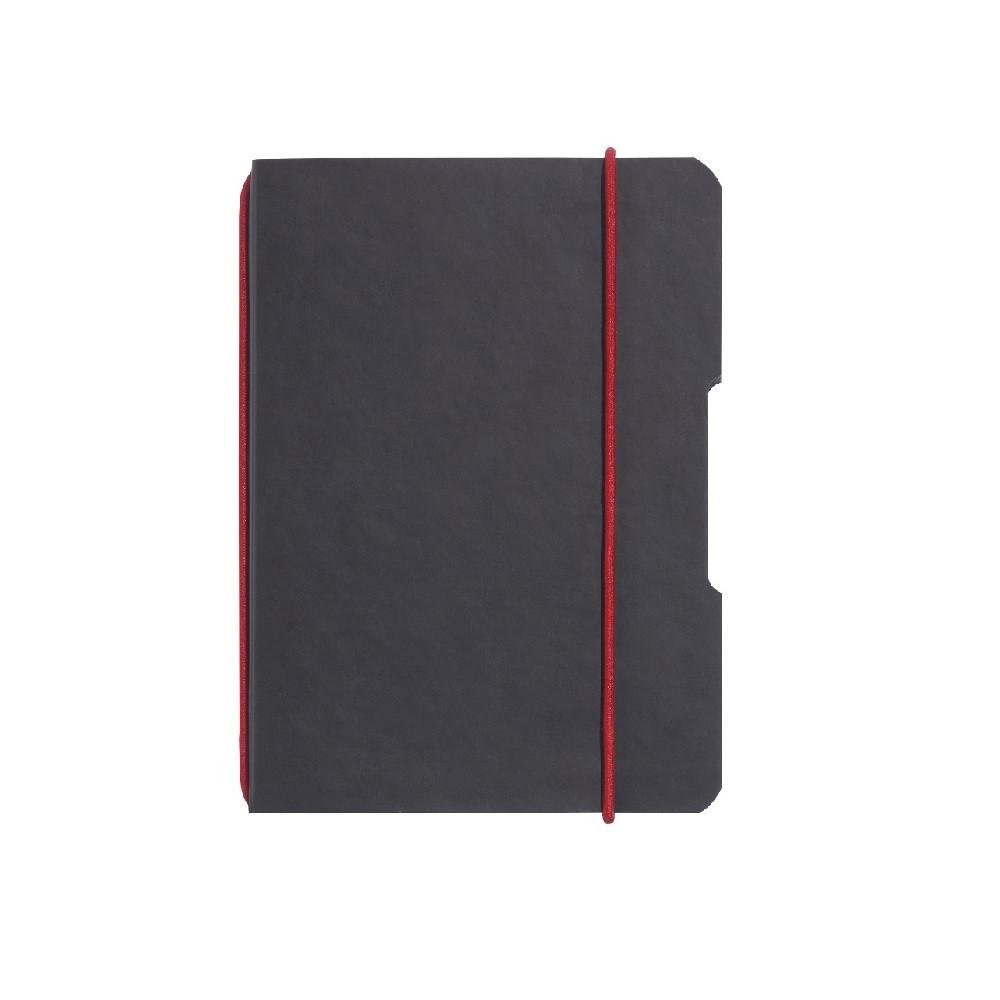 Блокнот Herlitz My.Book Flex Leather А5 40 листов клетка обложка имитация кожи черный  (11361839)