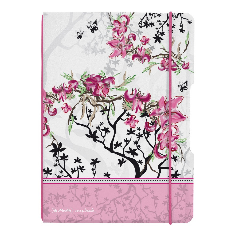 Блокнот Herlitz My.Book Flex PP А5 40 листов Ladylike Bloom клетка пластиковая обложка (11361664)