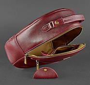 """Кожаный мини-рюкзак """"Марсала"""", фото 4"""
