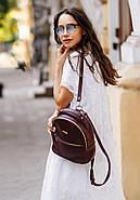 """Кожаный мини-рюкзак """"Марсала"""", фото 6"""
