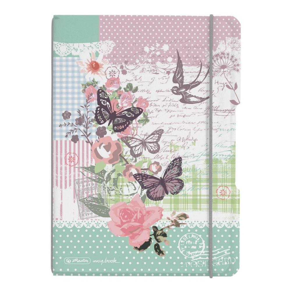 Блокнот Herlitz My.Book Flex PP А5 40 листов Ladylike Butterfly клетка пластиковая обложка (11361656)
