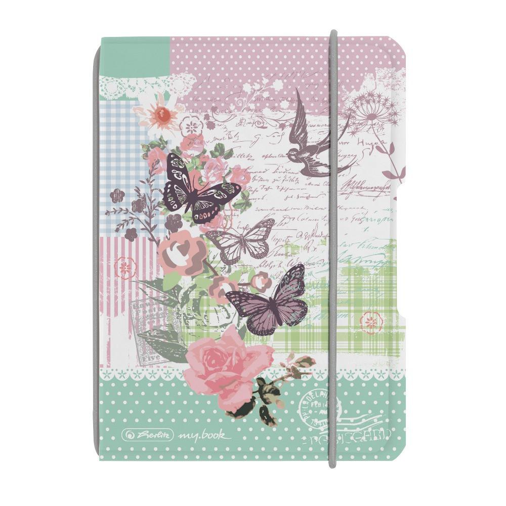 Блокнот Herlitz My.Book Flex PP А6 40 листов Ladylike Butterfly клетка пластиковая обложка (11361714)