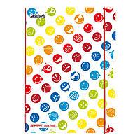 Блокнот Herlitz My.Book Flex PP А5 40 листов Smiley World клетка пластиковая обложка (50001736), фото 1