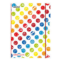 Блокнот Herlitz My.Book Flex PP А5 40 листов Smiley World клетка пластиковая обложка (50001736)