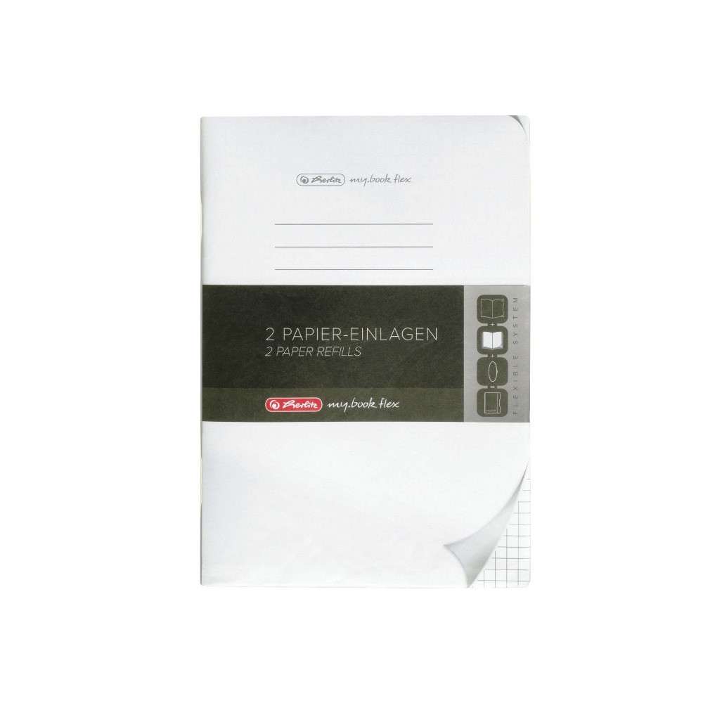 Сменные блоки для блокнотов Herlitz My.Book Flex А5 40 листов 2шт клетка  (11361888)