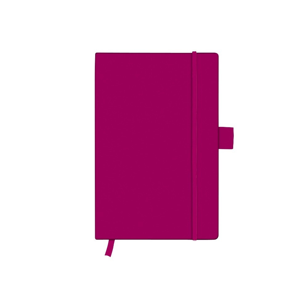 Записная книга Herlitz А6 96л My.Book Classic Berry клетка обложка имитация кожи (11369154)
