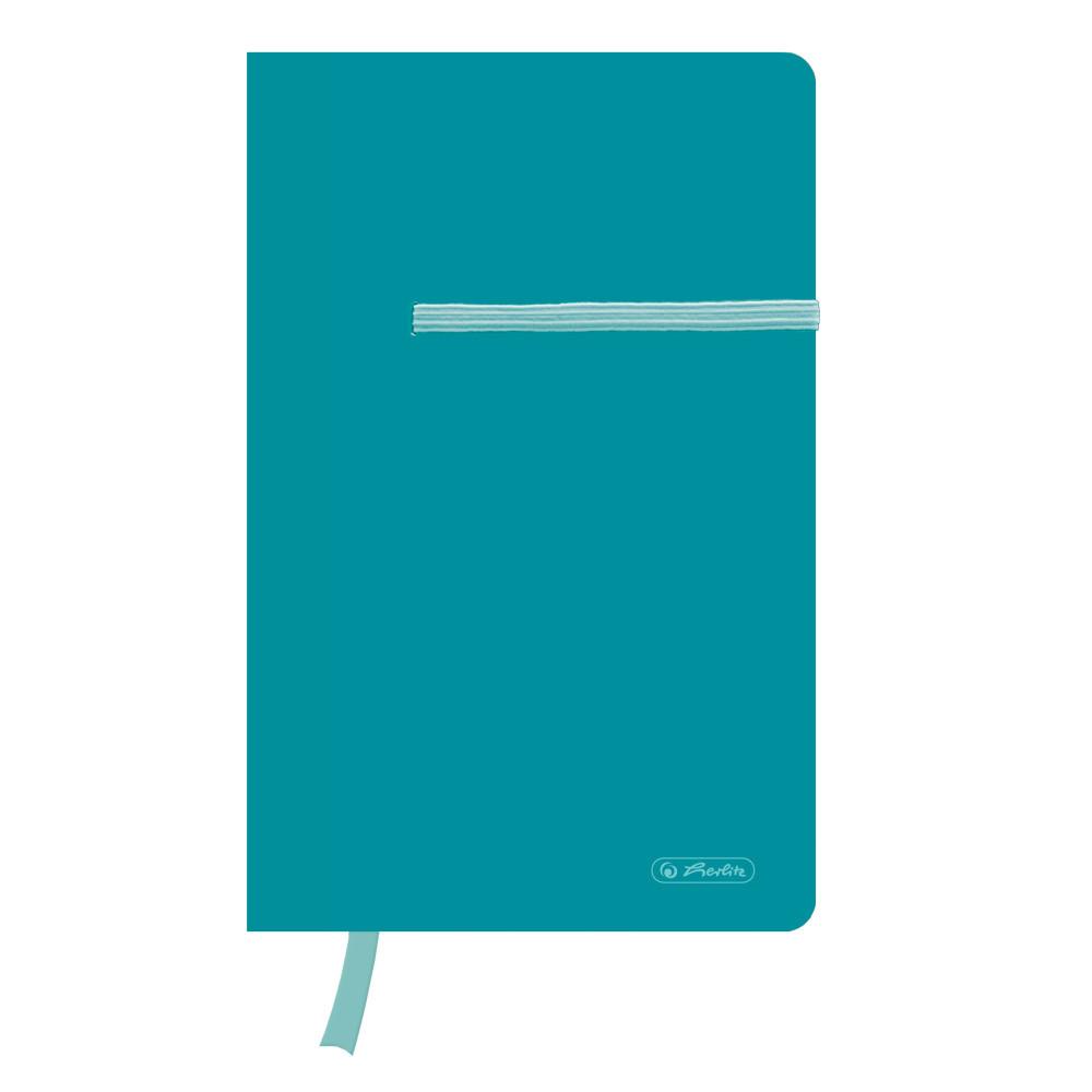 Записная книга Herlitz А5 88л Colour Blocking Caribbean Turquoise бирюзовая (50015962)