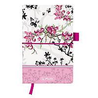 Записная книга Herlitz А5 96л Ladylike Bloom линия текстильная обложка (11370954), фото 1