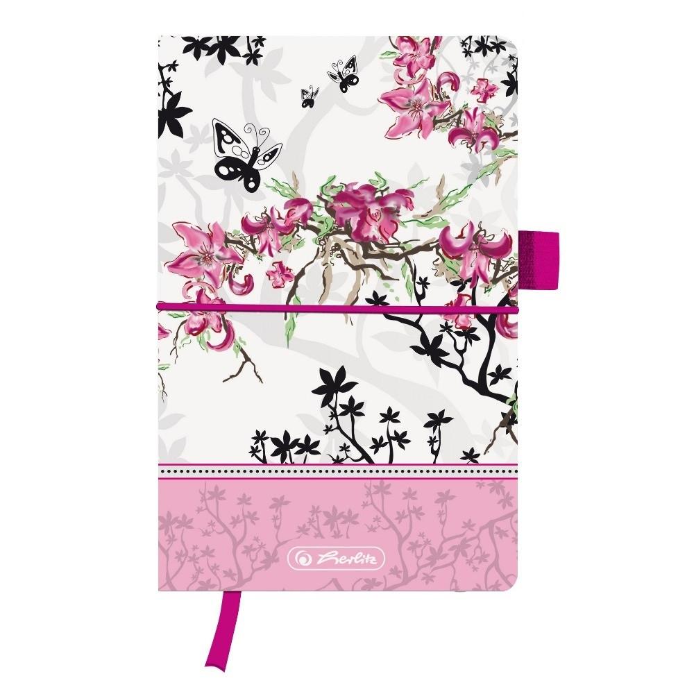 Записная книга Herlitz А5 96л Ladylike Bloom линия текстильная обложка (11370954)