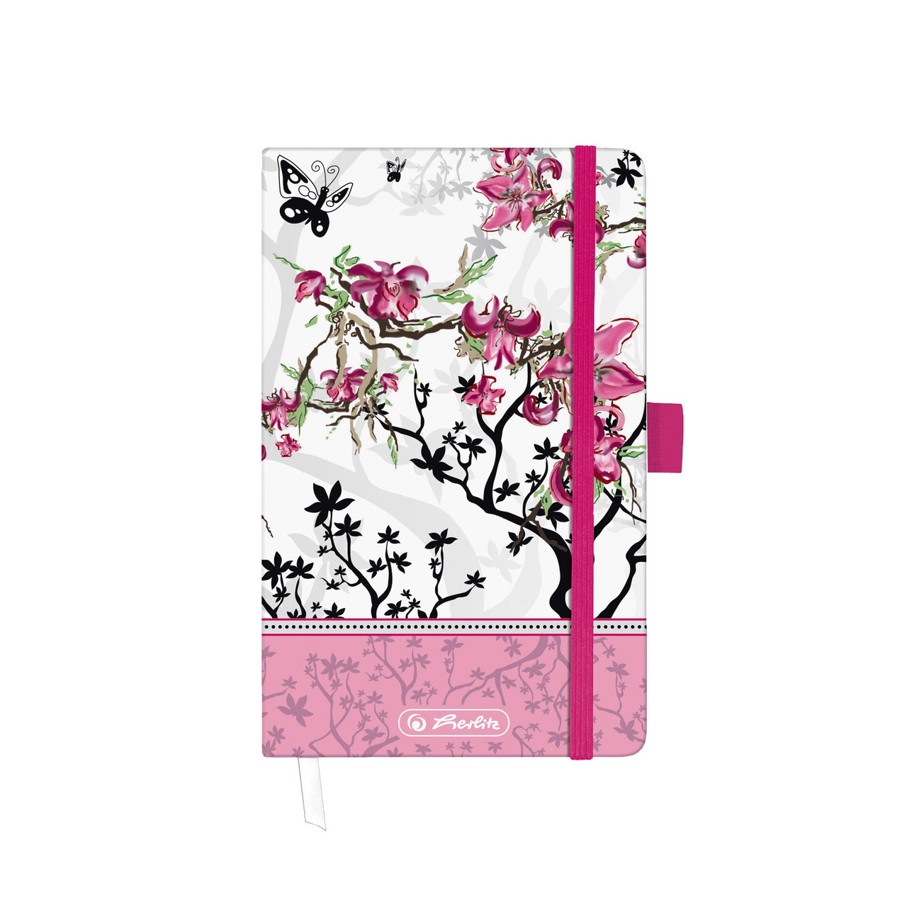 Записная книга Herlitz А6 88л Ladylike Bloom клетка (11366838BL)