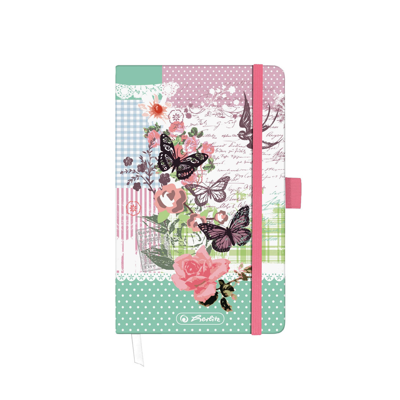 Записная книга Herlitz А6 88л Ladylike Butterfly клетка (11366838BU)