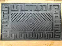Коврик резиновый черный крест 74 х 45