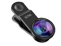 Набір з 3 лінз GETIHU для смартфонів Fisheye Lens Wide Lens і Marco Lens  Чорний