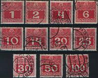 Поштові марки Австрії 1908-1913