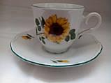 Сервиз фарфоровый кофейный Подсолнух Чехия 742, фото 2