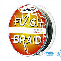 Шнур CLIMAX FLASH BRAID New Green 100 m 0.28 21 kg, зеленый