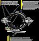 """Хомут трубный 5"""" (139-147 мм) с гайкой М8 под шпильку, фото 2"""