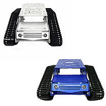 Y100 Crawler Intelligent Chassis Tank Авто Набор с алюминиевыми колесами из легкого сплава / 9V Мотор-1TopShop, фото 2