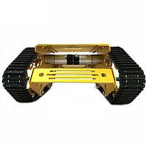 Y100 Crawler Intelligent Chassis Tank Авто Набор с алюминиевыми колесами из легкого сплава / 9V Мотор-1TopShop, фото 3