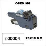 Этикет-пистолет Open M6 (однострочный)