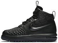 Мужские зимние кроссовки Nike Lunar Force 1 Duckboot '17 'Black' (Найк) черные
