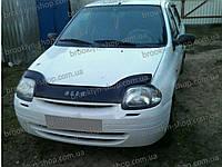 Дефлектор капота Renault Clio II с 1998-2001 г.в. (Рено Клио) Vip Tuning