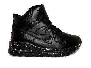 Кросівки зимові підліткові Nike (Репліка) 9802-6 чорний