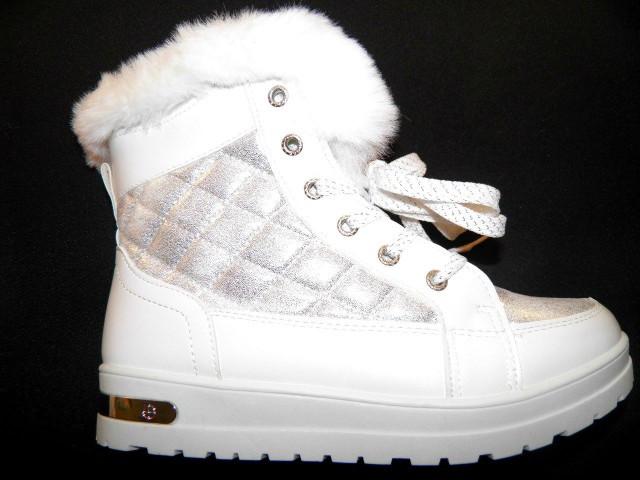 Ботинки женские Ideal K 1155 белый зимние