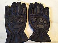 Перчатки спортивные тактические с закрытыми пальцами с защитой косточек (кожа) р.L