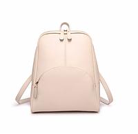 Рюкзак женский кожаный Hilary Бежевый, фото 1
