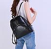 Рюкзак женский кожаный Hilary Черный, фото 3