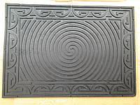 Коврик резиновый черный круг 72 х 50 , фото 1